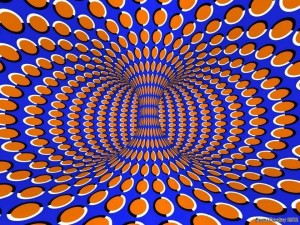 moving vortex illusion